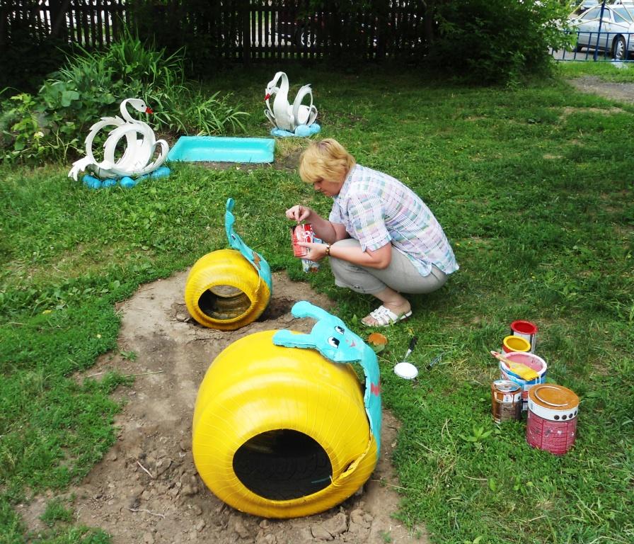 Детская площадка в саду своими руками из подручных материалов фото 57
